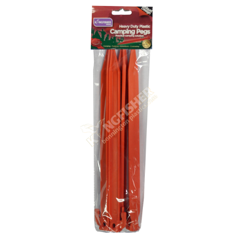 Heavy Duty Plastic Tent Pegs -  Camping Supplies by Kingfisher Leisure (Pack of 4)